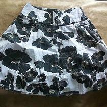 Guess Jeans Flower Print Flowing Black Multi-Color  Skirt Sz 24 Photo