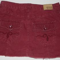 Guess Jeans Girls Burgundy Cord Skirt 14 Photo