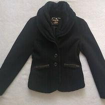Guess Jeans Global Brand Button Down Pea Coat Women's Size Medium Photo