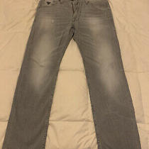 Guess Straight Leg Jeans Men Size 40 X 32 Vintage Distressed Wash NEW