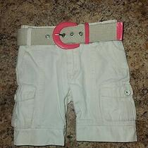 Guess Jeans Khaki Shorts W/ Belt. Toddler Girl's Size 2t. Free Shipping  Photo