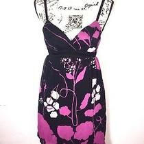 Guess Jeans Lightly Padded Open Back Sun Dress Juniors Size 1 Tie Back Floral  Photo