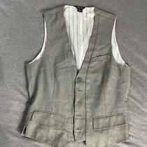 Guess Jeans Men's 5 Button Vest Size Small Photo