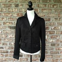 Guess Jeans Modele Black Fully Lined Cotton Blend Blazer Jacket Sz Xl  Photo