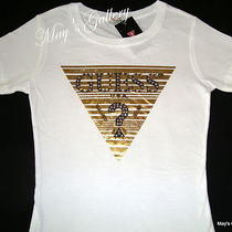 Guess Jeans Rhinestone Tank T-Shirt Tee T Shirt  Top Blouse White Cotton Nwt L Photo