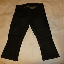 Guess -  Jeans Size 29 - Black Wash Capri - Stretch Zippers at Bottoms Photo