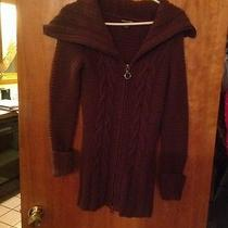 Guess Jeans Sweater Brown Small Sweater Coat Photo