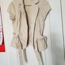 Guess Jeans Tan Crop Jacket  Photo