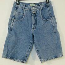 Guess Jeans Vtg 80s 90s Denim Blue Jean Long Shorts Double Button 28 Men's Photo