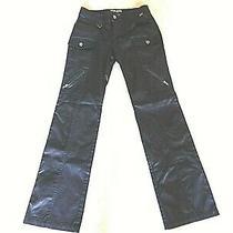 Guess Jeans Woman Authentic Cargo Satin Shiny Vintage Pants Size 29 Euc Photo
