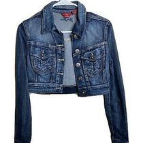 Guess Jeans Women's Blue Button Up Denim Jean Long Sleeve Jacket Size S  Photo