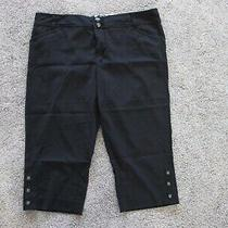 Guess Jeans Womens Low Rise Soft Black Capris  Size 30 Preowned Photo