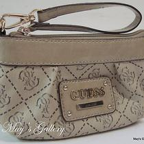 Guess Jeans Wristlet  Hand Bag Wallet Purse Tote Coin Gift Set Box  Handbag New Photo