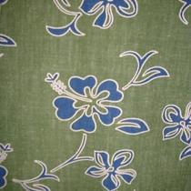 Guess Jeans Xl Hawaiian Aloha Shirt Green Blue White Floral 100% Cotton Photo