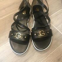 Guess Karin Black Sandal Size 9 1/2 Photo