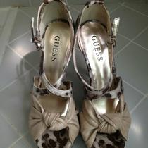 Guess Karune Knob Leopard Print Heels/ Shoes Size 6.5 Photo