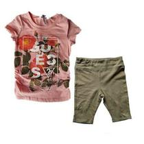 Guess Kids Girl  Set 2 Pieces Fashion Spring Size 5  Shorts and T-Shirt Girls Photo