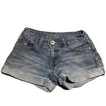 Guess Kids Girls Denim Blue Jean Shorts Size 7 Photo