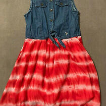 Guess Kids Jeans Tutu Red Dress Size 12 Photo
