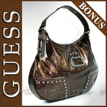 Guess Knight Rider Purse  Bonus Organizer Bronze Brown Logo Handbag Bag Sac New Photo
