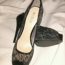 Guess Lace Black High Heels Pumps New 8 1/2 Photo