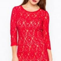 Guess Lace Dress Red Size Small Rrp 99 Box45 20 O Photo