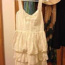 Guess Lace Trendy Cute Dress Cream Off White Photo