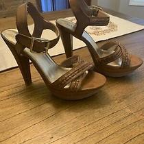 Guess Ladies Brown 5 Heels Size 8 Photo