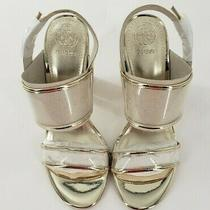 Guess Ladiess Size 8.5m Gold Ll Amidala Heels  Photo