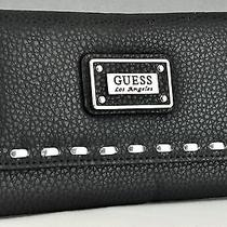 Guess Ladies Women Nwt Wallet Purse Black Avellino Slg Authentic Photo
