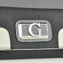 Guess Ladies Women Nwt Wallet Purse Jeanee Black Multi Slg Authentic Photo