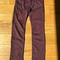 Guess Ladies' Women's Nicole Slim Fit Jeans Burgundy Claret Size W30 L32  Photo