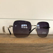 Guess Large Silver Square Sunglassess Nwt 100% Uv Protection 68 Photo