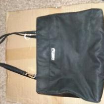 Guess Large Tote Travel Bag Purse Gg Logo Handles Black H Photo