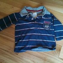 Guess Layered Shirt Baby Boys Size 12  Months Blue Striped. Photo