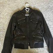 Guess Leather Brown Coat Size Xs Photo