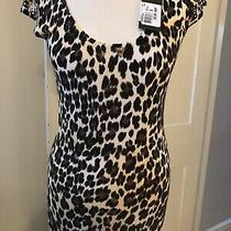 Guess Leopard Knit Jumper With Gold Stud Detail. Size S - Brand New Rrp55 Photo
