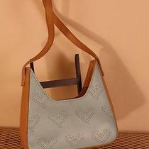 Guess Light Blue Embossed Heat Petite Handbag Photo