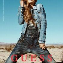 Guess Limited Edition Veros Studded Overalls Jumpsuit Sz 26 Photo