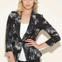 Guess Lisa Printed Brushstroke Printed Blazer  Jacket Sz Xs Photo