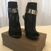 Guess Lisbete Peeptoe Suede and Mesh Booties  Size 6.5m Photo