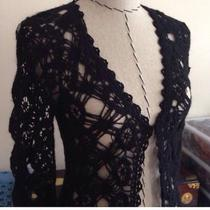 Guess Long Crochet Cardigan Sweater/lowered Price Photo