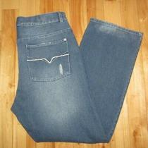 Guess Loose Fit Button-Fly Blue Jeans Men's Size 38 X 33 - Free Shipping Photo
