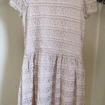 Guess Los Angeles  Beige Lined Lace Dress  Girls Size 14   Photo