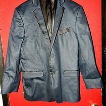 Guess Los Angeles Dean Blazer Jacket Navi Blue Sports Coat Slim Fit Size L Photo