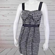 Guess Los Angeles Leila Corset Dress Padded Cup Sheath Empire Waist Tweed 1 S 2 Photo