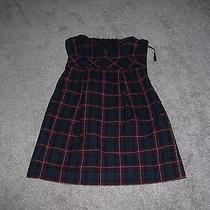 Guess Los Angeles Plaid Strapless Dress Size 3 Photo