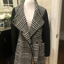 Guess Los Angeles Women's Black and White Plaid Winter Coat Size Xl Photo