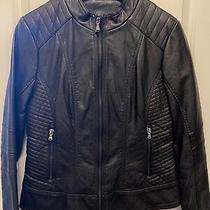 Guess Los Angeles--Women's Faux Black Leather Jacket--Size M Photo