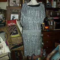 Guess Lovely Gray Knit Dress Size M Photo